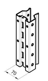 Стойка паллетного стеллажа РП 70