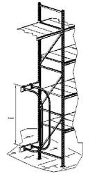 Делитель ряда для стеллажа
